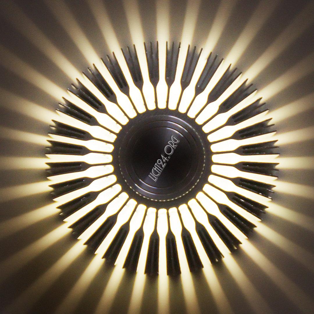 Led Wandstrahler Stripes : LED Wandstrahler STRIPES weiß Wandleuchte DesignStrahler 5,7 Jahre
