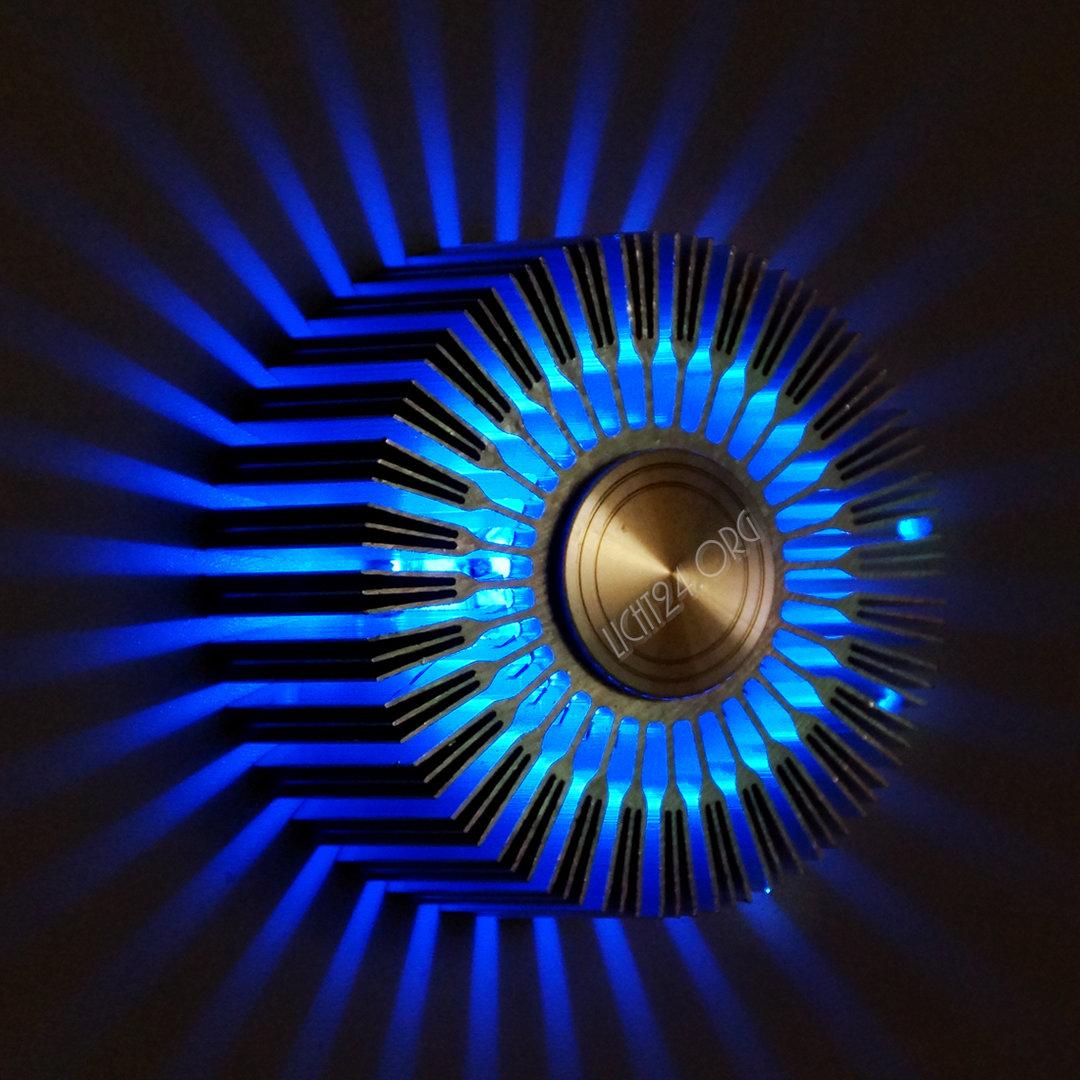 Led Wandstrahler Stripes : LED Wandstrahler STRIPES blau Wandleuchte DesignStrahler 5,7 Jahre
