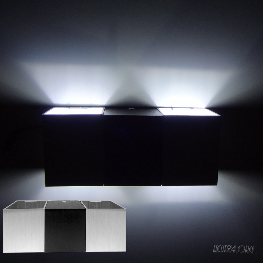 led wandstrahler checkmate weiss wandleuchte. Black Bedroom Furniture Sets. Home Design Ideas