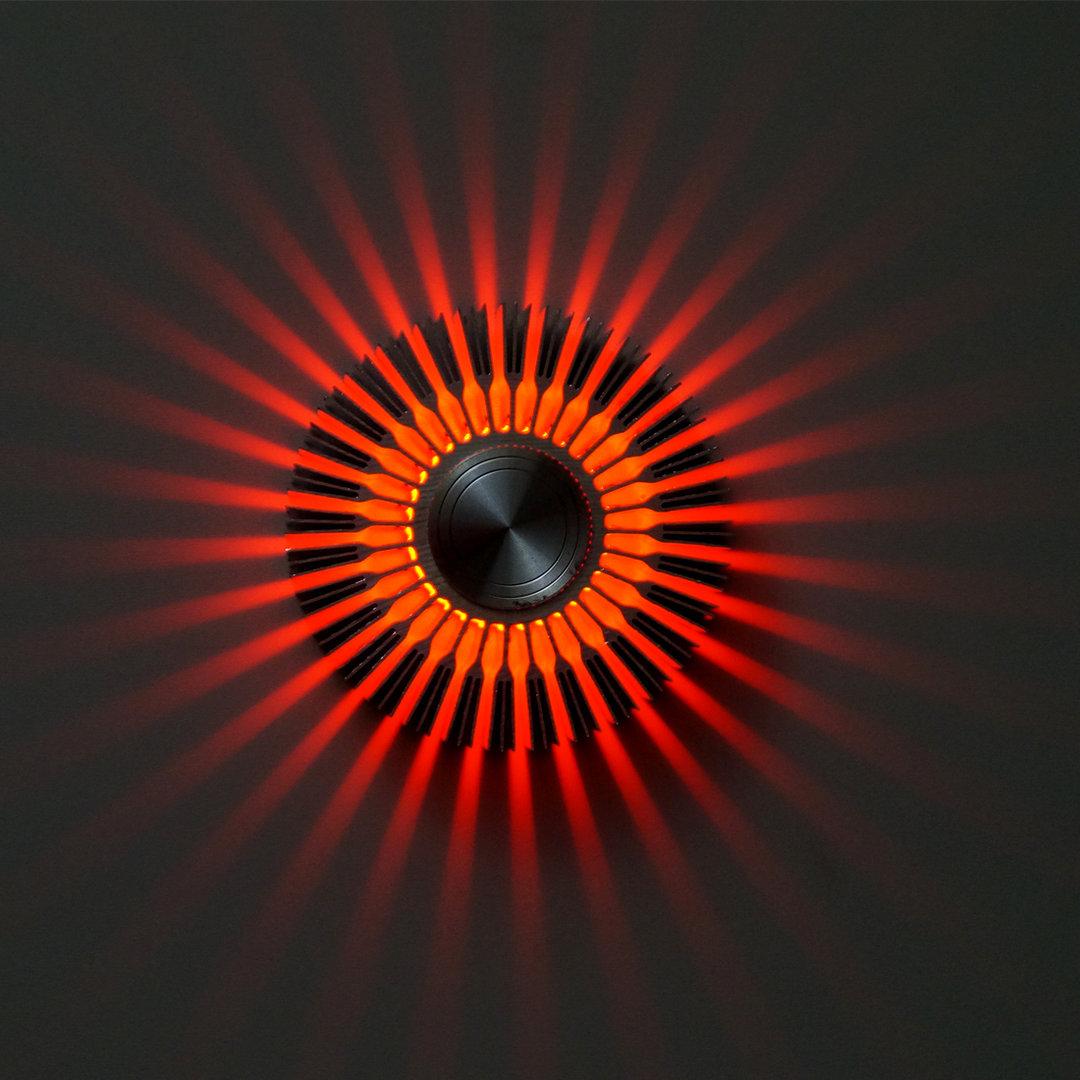 led wandstrahler stripes rot wandleuchte. Black Bedroom Furniture Sets. Home Design Ideas